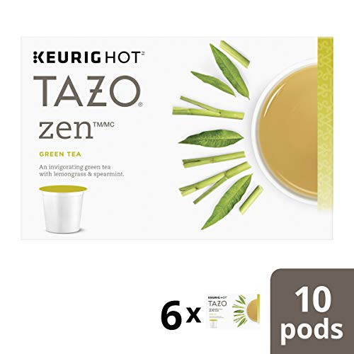 Tazo Zen Green Tea, K-Cups, 10ct (Best Keurig Green Tea)
