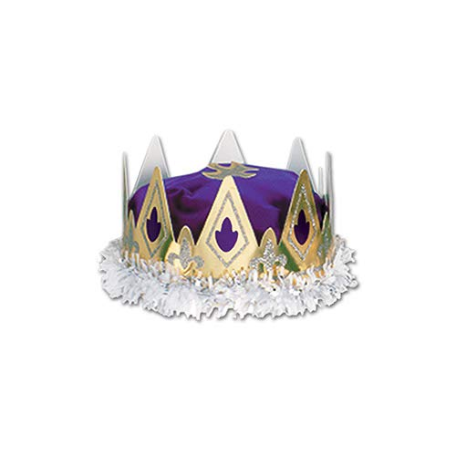 (Royal Queen's Crown (purple) Party Accessory  (1 count))