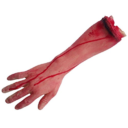 [LETSQK Fake Severed Hands Feet Arm Legs Bloody Broken Body Parts Halloween Props C] (Halloween Body Painted Costumes)