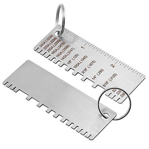 Wire/Metal Sheet Thickness Gauge 14 16 18 20 22 24 Wire Gauge Thickness Size Inspection Tool Welding Gauge,Stainless Steel