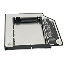 """BrainyDeal Sata 2Nd Hard Disk Drive Hdd Caddy Adapter For Thinkpad T400 T410 T500 (Accept 2.5""""/9.5Mm Sata Hdd)"""