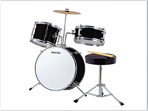 ミニドラム(お子様向けジュニアドラム)MX-50BK 交換ドラムヘッド付き(ストリートライブなどでも使える)   B00LPFZD6K