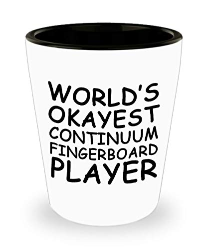 Funny World's okayest Continuum Fingerboard player Mug - Gift Idea Unique Music Birthday Present Novelty Appreciation Coffee Cup Ceramic For Men Women