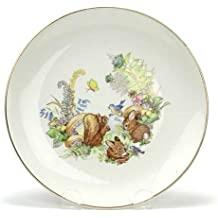 Child's Plate by Staffordshire, Earthenware, Old Foley, Bunnies