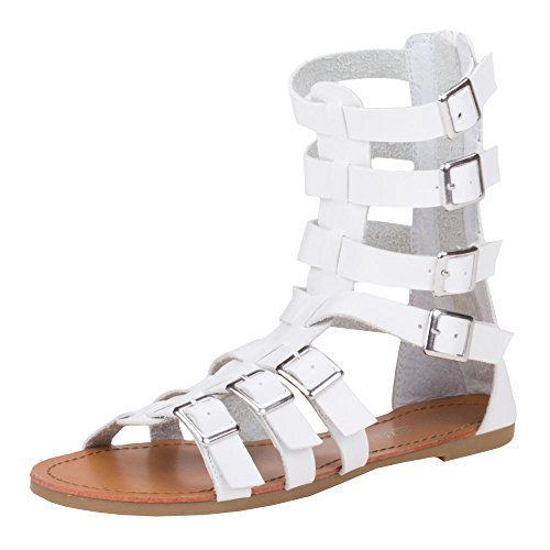 Ital-Design - Sandalias de vestir de Material Sintético para mujer Blanco - blanco