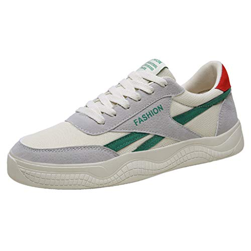 iHPH7 Shoes New Mesh Shoes Leisure Sports Shoes are Breathable in Summer Shoe Men (44,Green)]()