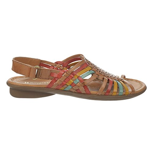 Camelot Red Sandal Huarache Turquoise Naturalizer Wendy Leather Women's Yellow Iq1a4Tx