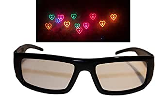 Heart Diffraction Glasses - See Hearts! Rave Glasses