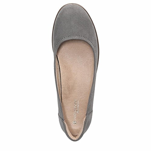 Naturalizer Womens Leather Round Toe Casual Slide Sandals Modern Grey Microfiber 2015 new low price for sale cheap sale shop for sale 100% guaranteed Gw4BN