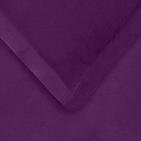 Superior Premium Cotton Flannel Duvet Cover Set Purple Solid All Season 100/% Brushed Cotton Flannel Bedding Full//Queen FLAFQDC SLPR 3-Piece Set with Duvet Cover and Pillow Shams