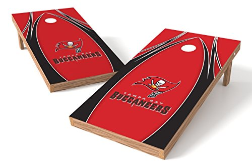 Wild Sports NFL Tampa Bay Buccaneers 2' x 4' V Logo Authentic Cornhole Game Set