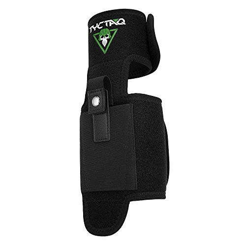 Ankle Holster for Concealed Carry with Calf Strap | One Size Fits All | Super Strong Retention | Leg Holster Fits Glock 19, 26, 36, 42, 43, Ruger LCP, LC9, S&W Shield, Sig Sauer P238 and more