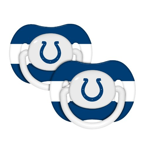 Baby Fanatic NFL Indianapolis Colts Baby Fanatic 2-Pack Pacifiers (Nfl Colts Baby Stuff)