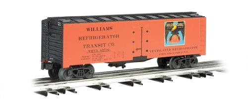 O Gauge Rolling Stock (Williams by Bachmann 40-Feet Scale Refrigerator Car Golden Eagle Oranges - O Scale)