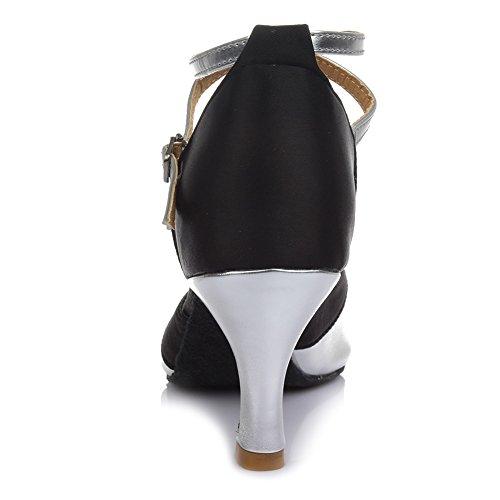 Chacha Hroyl De Danse Latin Argent Salle Femmes Standard En Moderne Satin Cm Chaussures Pour Bal 7 Samba 806 W xSSFrqw0n5