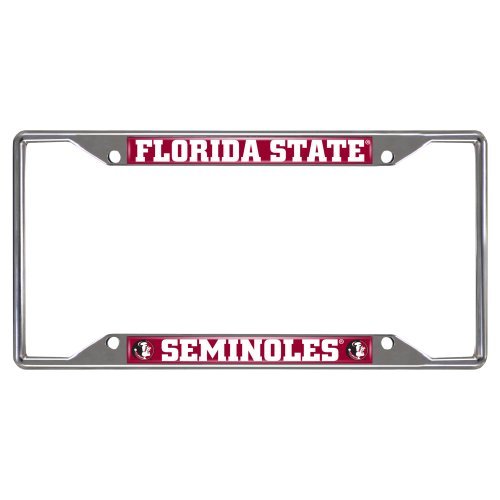 FANMATS NCAA Florida State University Seminoles Chrome License Plate Frame