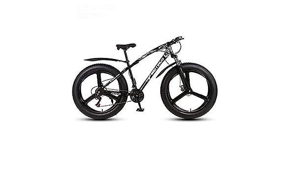 Qinmo Bicicleta de montaña for adultos, de 26 pulgadas de grasa de bicicleta de montaña de neumáticos, 21-27 de velocidad, frenos de disco doble y bicicleta de montaña todo terreno que absorbe