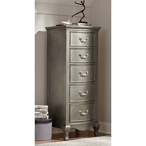 Hillsdale Kids and Teens 30520 Kensington NE Kids 5 Drawer Chest, Tall, Antique Silver
