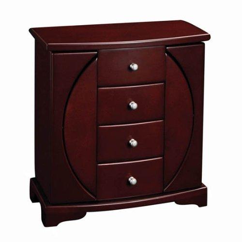 Mele & Co. Simone Wooden Jewelry Box (Mahogany Finish)