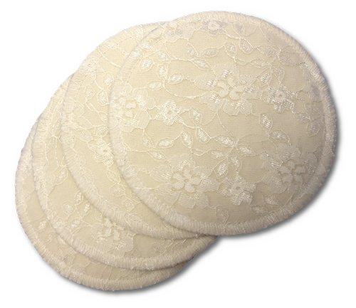 Lace Nursing Pad - NuAngel Washable Nursing Lace Pads, Natural, 4-Count