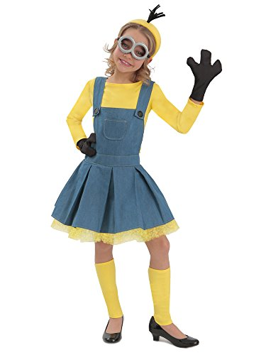Princess Paradise Minions Girl Jumper Costume, Blue/Yellow, Large