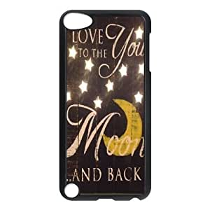 DIY I Love You To The Moon And Back Ipod Touch 5 Case, I Love You To The Moon And Back Custom Case for iPod Touch5 at Lzzcase