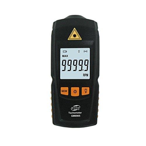 Minzhi GM8905 Digital LCD Tachometer Non-Contact RPM Tach Test Meter Motor Speed Gauge Tester