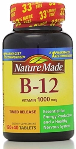 Nature Made Vitamin B-12 Timed Release Tablets, Value Size, 1000 Mcg, 160 Count (Pack of 2) ()
