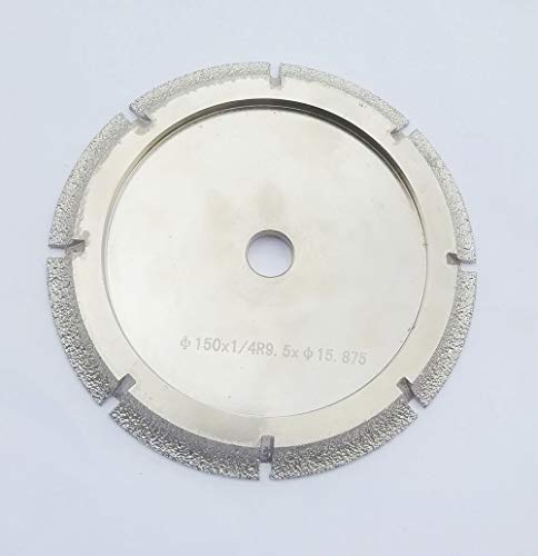 Wheel Nose - 6 Inch Diamond Profile Wheel of 3/8'' Radius Bull Nose Fit on Tile Saw for Granite Marble Countertop (3/8'' Radius Demi Bull Nose)