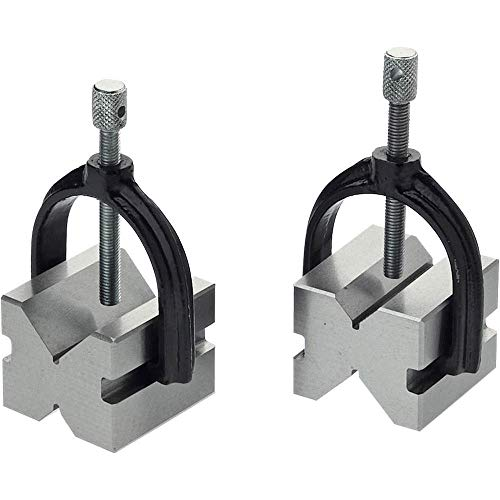 Grizzly H5609 V-Block Pair with Clamps 1-3/4-Inch
