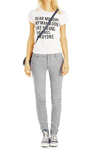 Femme Slim bestyledberlin Gris Clair Jeans x5X787Eq