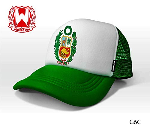 Amazon.com : Peruvian Hat Green White/Gorra con el Escudo de Peru - Adjustable (Green) : Sports & Outdoors