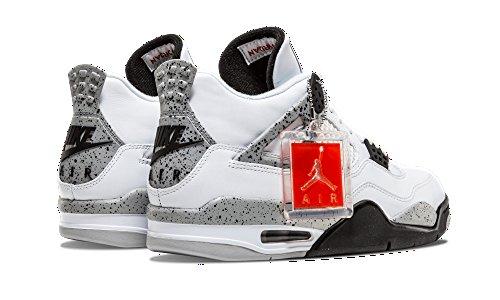 new style 1b6b0 14f3d ... Nike Air Jordan 4 Retro OG Herren Hallo Top Basketball Trainer 840606  Turnschuhe Schuhe Weiß Feuer