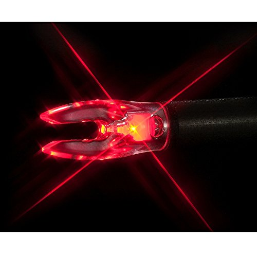 - Carbon Express Nockturnal Fit Universal Size Red Lighted Arrow Archery Nocks, 3 Pack