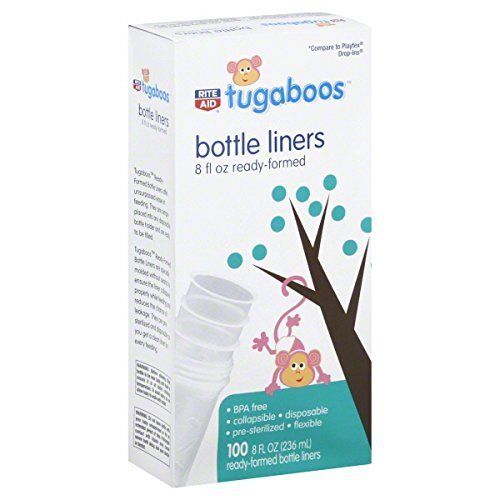Rite Aid Tugaboos Bottle Liners, 100 ea
