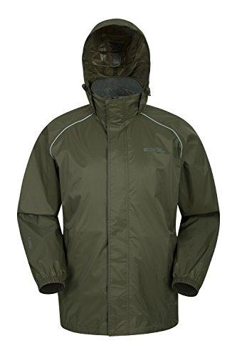 Mountain Warehouse Pakka Mens Waterproof Rain Jacket - Packable Khaki X-Large
