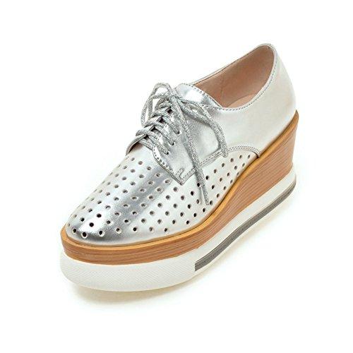 Zapatos Mujer Primavera/Cabeza hueca correa zapatos de plataforma/circular con zapatos casuales suela gruesa A