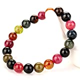 natural tourmaline bracelet/Candy-colored prayer beads of tourmaline bracelets-B