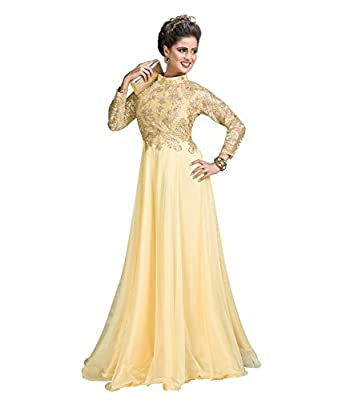 Image result for GOLDEN CREAM GOWN