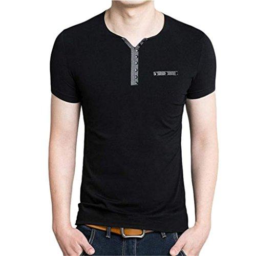 mens-slim-fit-v-neck-collar-t-shirt-hn-short-sleeve-men-shirts-casual-m-black