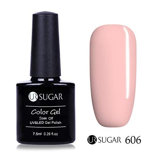 606 Matte - HITSAN INCORPORATION UR Sugar 7.5ml Grey Nail Gel Soak Off UV Gel Purple Blue Nude Color Base Top Matte Coat Nail Art Gel Polish Lacquer Varnish Color 606