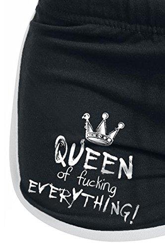 Queen of Fucking Everything Pantalón corto 'Hot Pant' Mujer Negro Negro