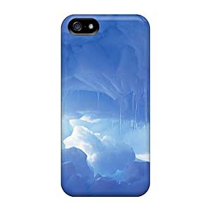 Premium Ice Blue Iphone Wallpaper Heavy-duty Protection Case For Iphone 5/5s