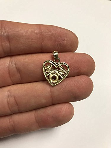Ice on Fire Jewelry 925 Sterling Silver Heart Mom Pendant Necklace 20 Mariner Chain
