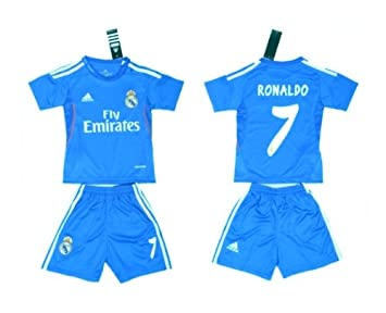 NEW 2013-14 Real Madrid Away (7 Ronaldo) KIDS For Baby Jersey Shirt ... e58b9b6f5