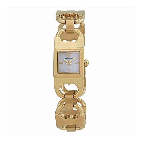 Gold Tone Ivory Dial - Tory Burch T Link Ivory Dial Gold-tone Bangle Ladies Watch TB5400