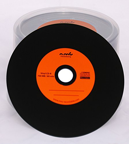 50-arancione-in-vinile-CD-R-NMC-Carbon-Dye-Retro-CD-vergine-nera-700-MB-completo