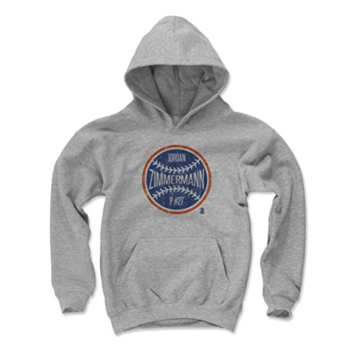 Price comparison product image Jordan Zimmermann Ball B Detroit Kids Youth Hoodie L Gray