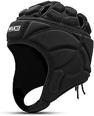 Lixada Rugby Helmet Headguard,Adjustable Soft Padded Headgear Protection for Flag Football, Rugby, Lacrosse, S