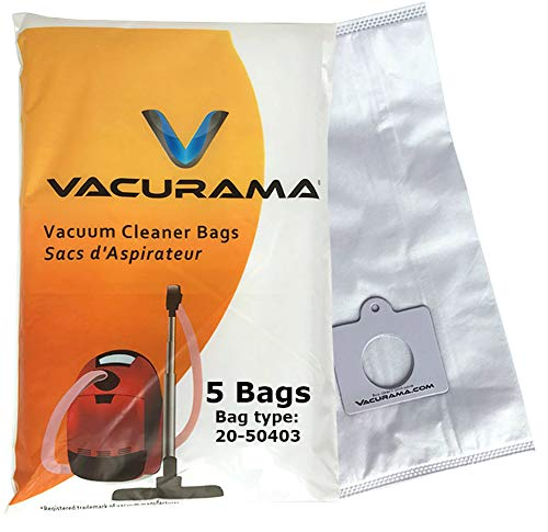 Kenmore Vacuum Bags 50403 Sears - Compatible with Canister Vacuum Bags 20-50403, HEPA Cloth - 5 Vacurama